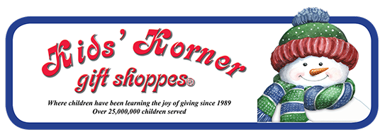 Kids Korner Gift Shoppes - Where children have been learning the job of giving since 1989 -- Over 25,000,000 children served.